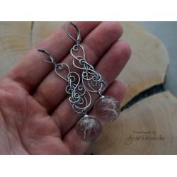 Kolczyki z nasionami dmuchawca, wire wrapping