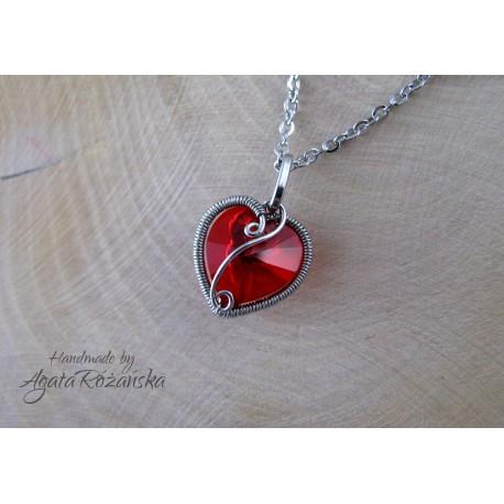 Wisiorek serce kryształowe