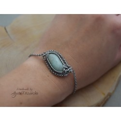 Bransoletka Amazonit, wire wrapping