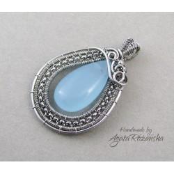 Wisiorek z błękitnym Jadeitem :)