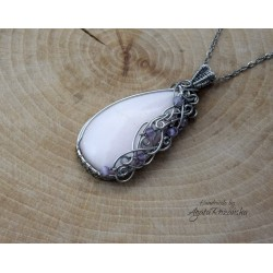 Wisiorek aragonit, wire wrapping