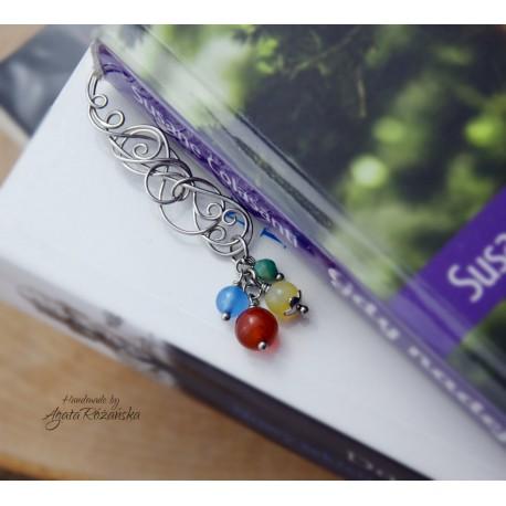 Kolorowa zakładka do książki, wire wrapping