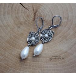 Kolczyki z perłami Seashell