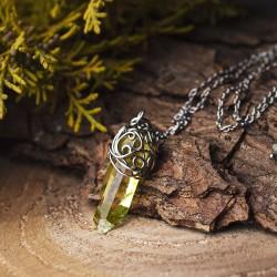 Wisiorek talizman żółty kryształ górski