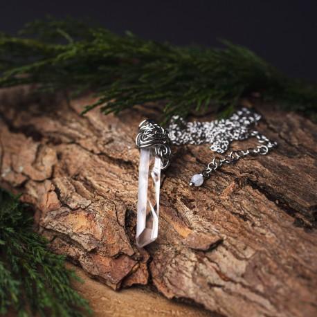 Wisiorek talizman kryształ górski