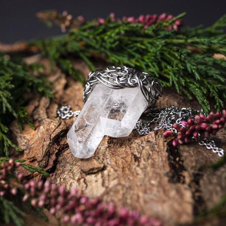 Wisiorek talizman kryształ górski duży podwójny