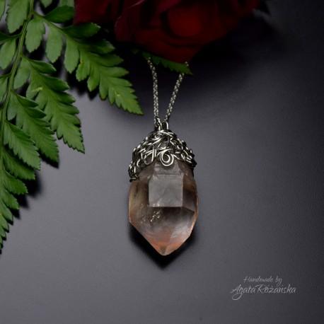 Wisiorek talizman duży kryształ górski III