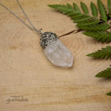 Wisiorek talizman duży kryształ górski IV