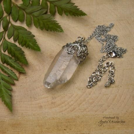 Wisiorek talizman duży kryształ górski VI