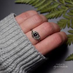 Mini pierścionek regulowany z ametystem
