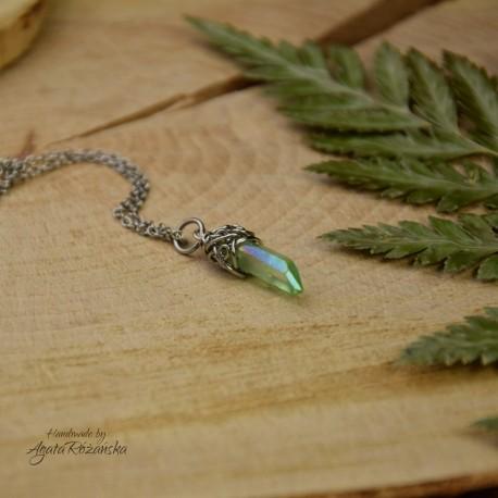 Wisiorek talizman zielony kryształ górski