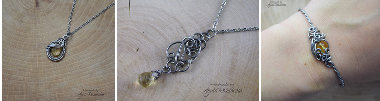 biżuteria z cytrynem
