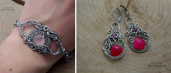 biżuteria z chalcedonem